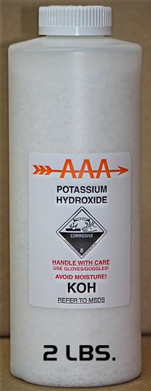 how to write potassium hydroxide